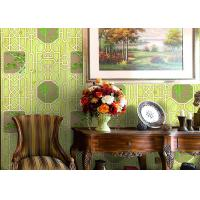 Buy cheap Bamboo And Tree Geometric Printing Chinese Style  Wallpaper Simulated Wood Grain from wholesalers