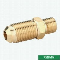 Buy cheap Sae 45-Degree Male Threaded Coupling Nipple Pipe Fitting Copper Pipe Flare Fitting from wholesalers