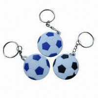 Buy cheap keyring, football shape keyring with various shapes and sizes are available,your designs available from wholesalers