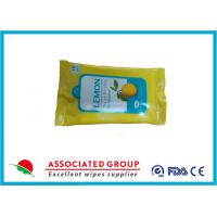 Buy cheap Promotional Packaging Antibacterial Hand Wipes Lemon Extract Fresh Style 10pcs*6packs from wholesalers