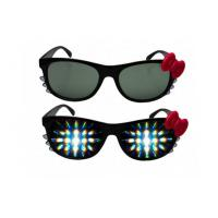 Clear 3D Fireworks Glasses For Gifts , Girl Hello Kitty Plastic 3D Glasses Manufactures