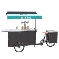 China 250W Electric Bicycle Vending Cart , Mobile Vending Cart For Beer CE Certificate on sale