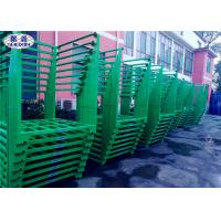 Buy cheap Green Steel Stacking Racks , Warehouse Plate Stacking Storage Racks For Tobacco from wholesalers