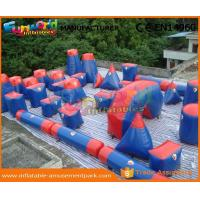 Wholesale 0.6MM PVC Tarpaulin Inflatable Paintball Arena For Bunker Red And Blue Paintball Bunker Field from china suppliers