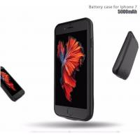 Buy cheap soft TPU bumper Powerful 5000mAh Power Backup Phone Case For iPhone 7 extra battery from wholesalers