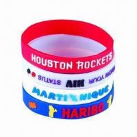 Wholesale Silicone Bracelets, Promotional Silicone Bangles, Customized Logos and Sizes Welcomed from china suppliers