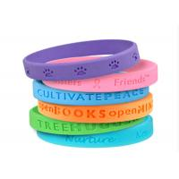 Buy cheap Translucent Rubber Bracelets Custom Silicon Wristbands Bulk Personalized from wholesalers