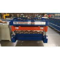 Wholesale 4 Kw Hydraulic Cutter Glazed Tile Roll Forming Machine 1220mm Coil Width from china suppliers