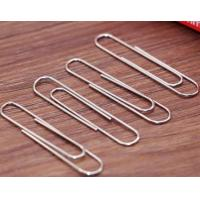 Buy cheap 100 PCS/Box Zinc Finish 50mm Round Metal Paper Clips For Office Stationery from wholesalers