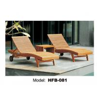 Buy cheap Teak wood folding webbed lawn chair chaise lounge from wholesalers