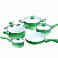 Buy cheap 10-piece Non-stick Cookware Casserole Set with Frying/Sauce Pan and Stock/Sauce Pot, Ceramic-coated  from wholesalers