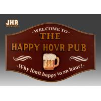 Buy cheap Resin Beer Wall Decor Antique Wooden Wall Signs Decorative Wall Plaque Signs Pub Sign from wholesalers