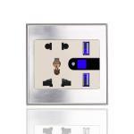 new lifestyle high quality USB multi wifi plug smart wall sockets for UK US