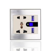 Buy cheap new lifestyle high quality USB multi wifi plug smart wall sockets for UK US product
