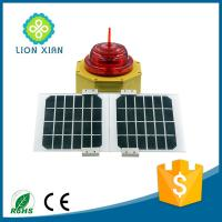 Buy cheap solar powered LED red emitting aluminum alloy aviation obstruction light from wholesalers