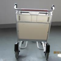 China Industrial Aluminum Airport Carts Luggage Cart Self Adjusting Automatic Brake Front Bumper For Guard on sale