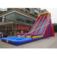 Buy cheap 10 Meters High Giant Inflatable Water Slides For Adults , Big Water Slide Bounce House from wholesalers