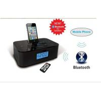 Buy cheap dual alarm clock radio stereo bluetooth speaker with iphone dock station from wholesalers