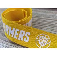 Buy cheap Silk screen printed webbing with customized pattern poly band from wholesalers