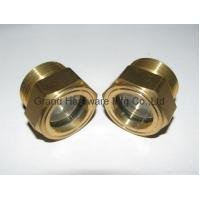 Buy cheap male Metric thread M22*1.5  Brass Fluid level sight glass with reflector and natural glass from wholesalers