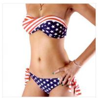 Wholesale - Fashion steel bikini american flag steel bikini swimwear Padded Swimsuit Manufactures