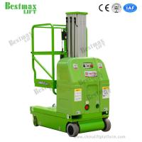 Buy cheap 9m Platform Height Vertical Man Lifts DC Powered Double Mast Self Propelled from wholesalers