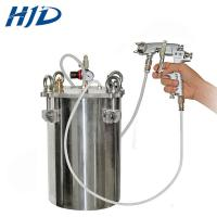 Buy cheap Moveable manual uv coating machine with powder coating gun from wholesalers