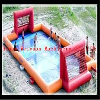 Buy cheap CE Fun new air tight water football game inflatable soap soccer field from wholesalers