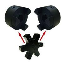 Buy cheap L Type Flange Cast Iron Polyurethane Coupling Black / Red Color L035-225 Size from wholesalers