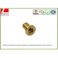 CNC Machining precision stainless steel / brass pin shaft Passed ISO 9001 Manufactures