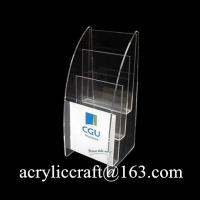 Wholesale Desktop Acrylic Leaflet Holder, Hot Selling Plexiglass Brochure Stand from china suppliers