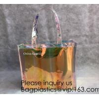 Buy cheap Holographic PVC Tote Bag,Shoulder Bag Laser Hologram PVC Shopping Tote Bag Lady,Clothes Shirt Swimwear sock Packaging from wholesalers