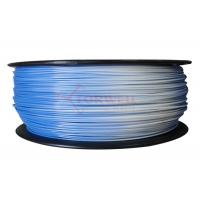 Buy cheap 1.75MM Blue To White Color Changing Filament PLA / 3D Printer Support Material from wholesalers