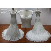 Buy cheap Bridal Cap Sleeves Sweetheart&Luxe Lace Mermaid Wedding Dress 2012 from wholesalers