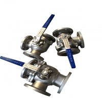 Buy cheap Stainless Steel DN200 CF8M 3 Way Flanged Ball Valve from wholesalers