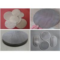 Buy cheap Wire Mesh Filter Disc And Packs , Stainless Steel Nickel Material Discs Filters from wholesalers
