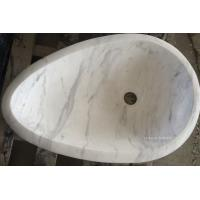Wholesale Natural Volakas White Marble Vessel Sinks from china suppliers