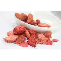 Natural Strawberry Freeze Dried Fruits Freeze Drying Process Products for Desserts Snacks Manufactures