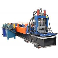 China Automatic CZ Purlin Roll Forming Machine , Carbon Steel Metal Forming Machine 2 Inch Chain on sale