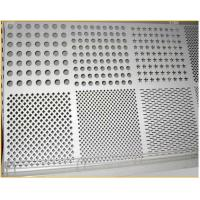 Buy cheap 48*48 long round hole custom perforated metal sheet for ceiling deck from wholesalers