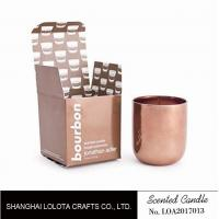 Buy cheap Scented soy wax candle in rose gold metal jar with rose gold folding box from wholesalers