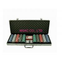 Buy cheap ABS Aluminum Silver 500 Poker Chip Case / Chip Boxes With Foam Insert from wholesalers