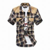 Buy cheap Men's Casual/Fashion Shirt with Nice Design, OEM Orders Welcomed from wholesalers