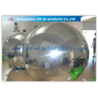 Buy cheap PVC Silver Inflatable Mirror Ball , Christmas Inflatable Yard Decorations Balloons from wholesalers