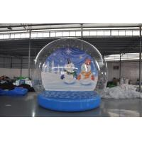 Buy cheap Stock on sale inflatable snow show balls, Christmas snow globe,inflatable Christmas display ball for decoration from wholesalers