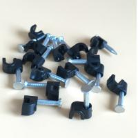 Buy cheap ABS Circle Drop Wire Cable Clip Wire Round Clip With Concrete Nail 2.5*18mm from wholesalers
