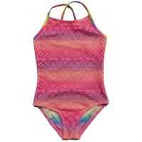 Buy cheap Girls big size and medium one-piece bathing suit children, hollow out hook weaving swimsui from wholesalers