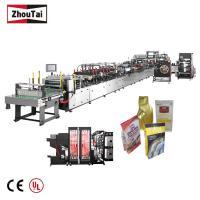 Slider Zipper Flat Bottom Pouch Making Machine For Dry Bread Bag CE Certification