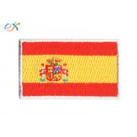 Buy cheap Polyester Fabric Iron On Flag Patches , Embroidery Edge Military Cloth Patches from wholesalers
