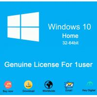 Buy cheap Computer hardware Microsoft Windows 10 home dvd COA sticker 100% Activation 64bit DVD win10 home License Key Code from wholesalers